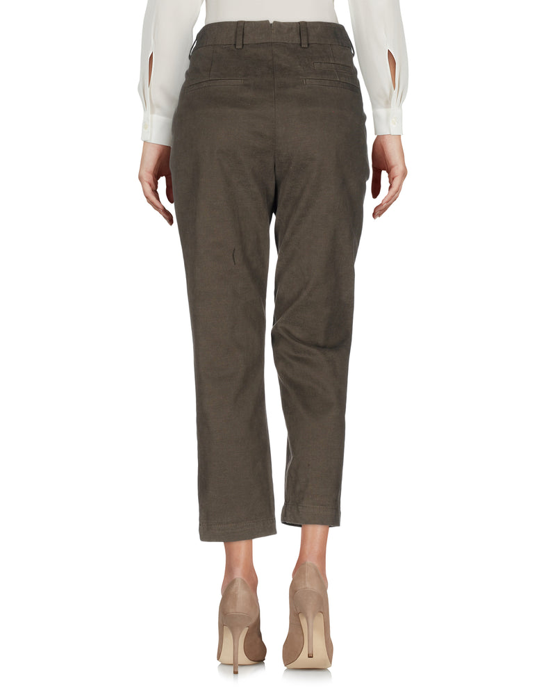 Mauro Grifoni Khaki Slim Fit Casual Trousers