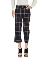 Dondup Dark Blue Houndstooth 3/4 Length Trousers