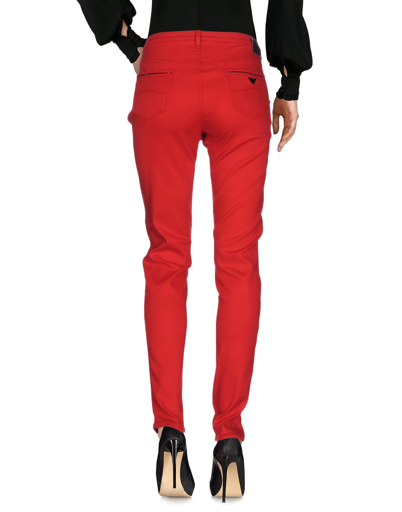 Armani Jeans Red Slim Fit Casual Trousers