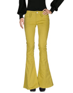 Dondup Acid Green Mid Rise Casual Trousers