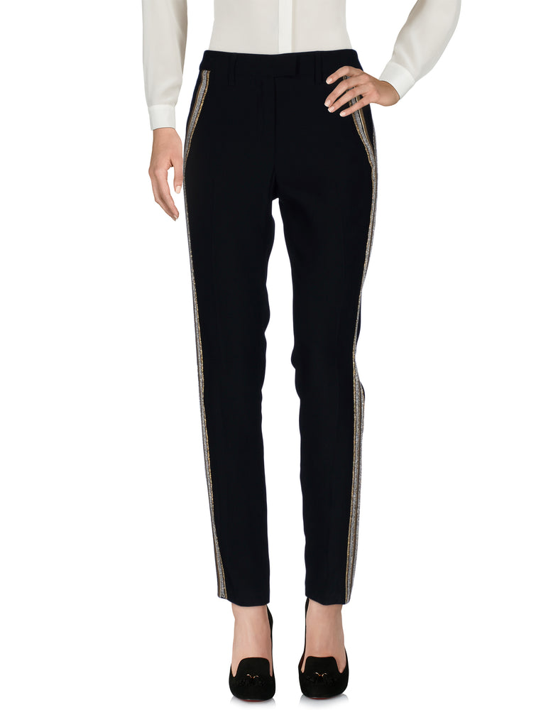 Dondup Black Mid Rise Tailored Trousers