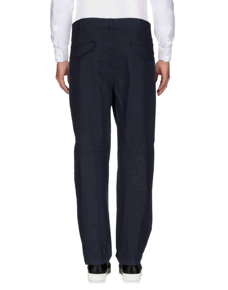Dondup Dark Blue High Waist Casual Trousers