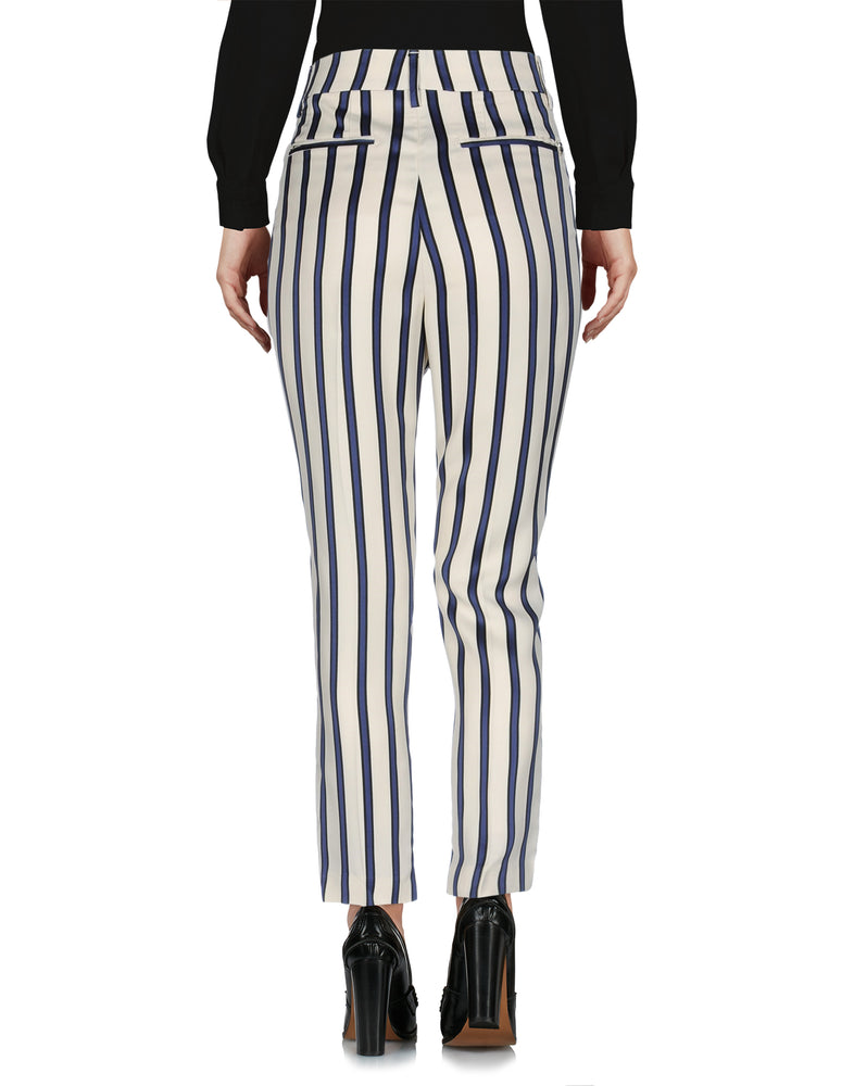 Dondup Ivory Mid Rise Tailored Trousers