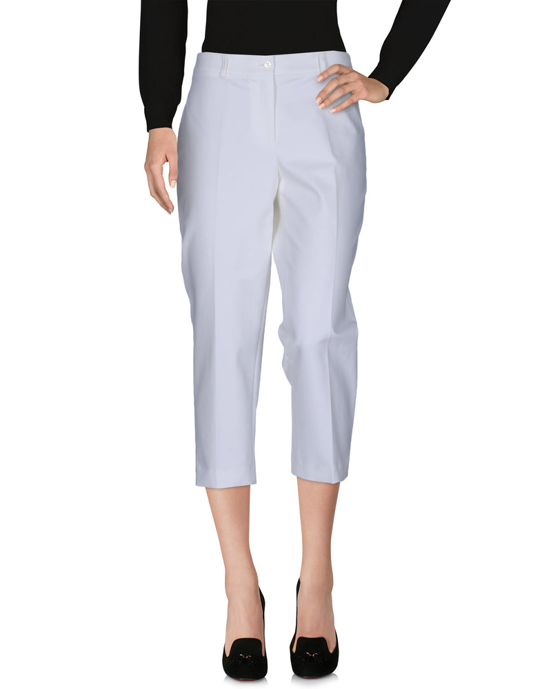 Michael Kors White 3/4 Slim Fit Trousers