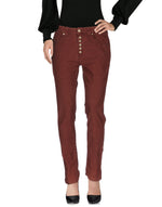 Dondup Maroon Straight Leg Casual Trousers