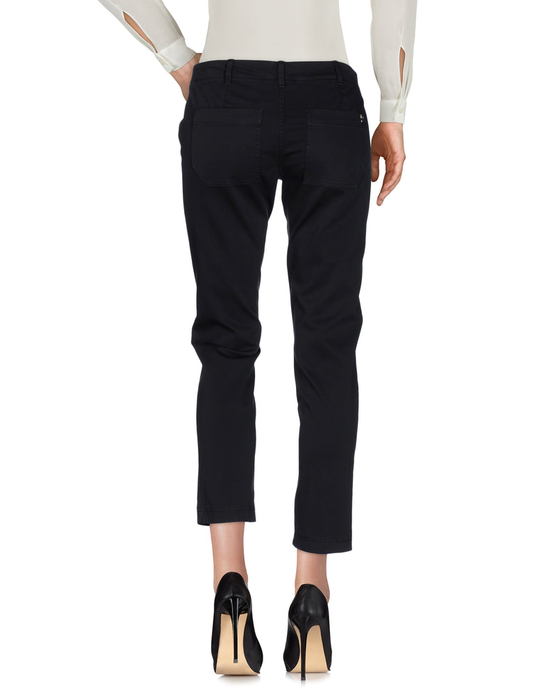 Dondup Steel Grey Mid Rise Casual Trousers