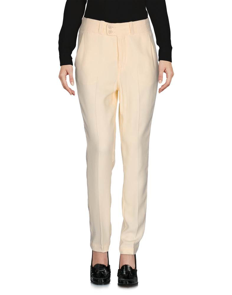 Dondup Ivory High Waist Tailored Trousers