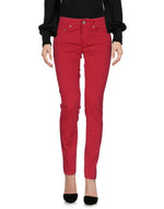 Dondup Red Regular Fit Casual Trousers