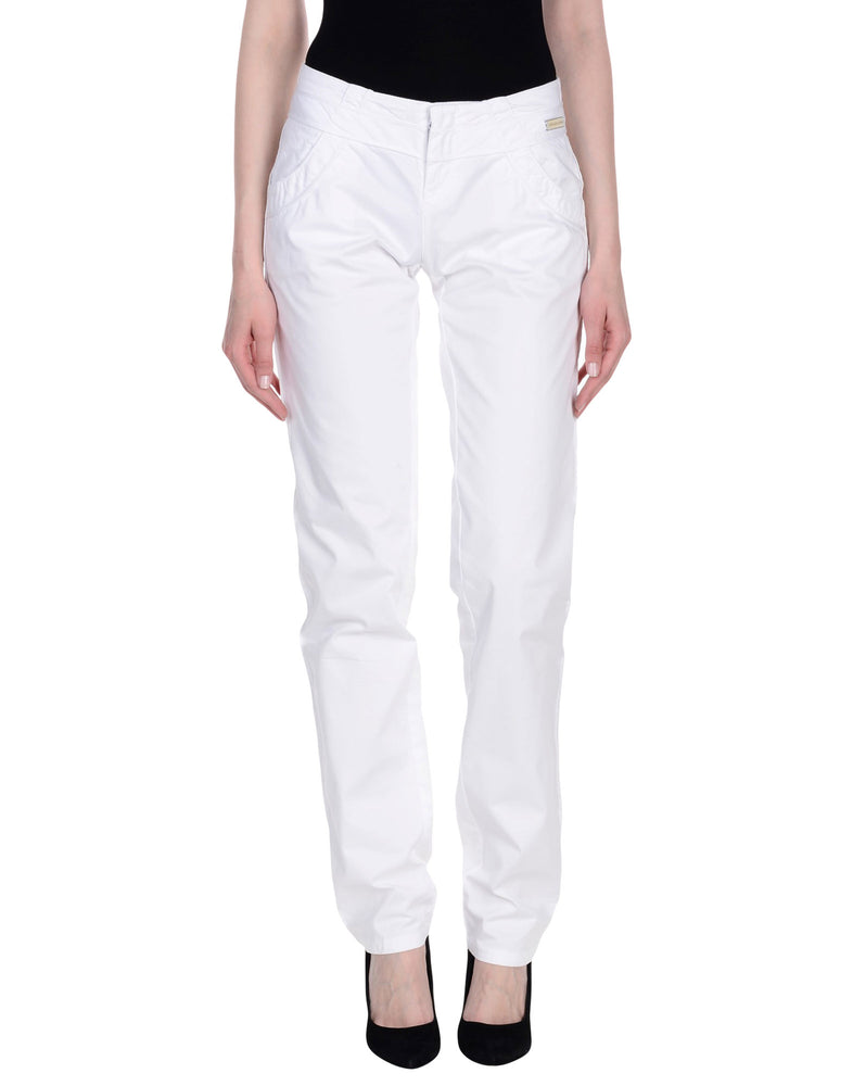 Calvin Klein Jeans White Regular Fit Trousers
