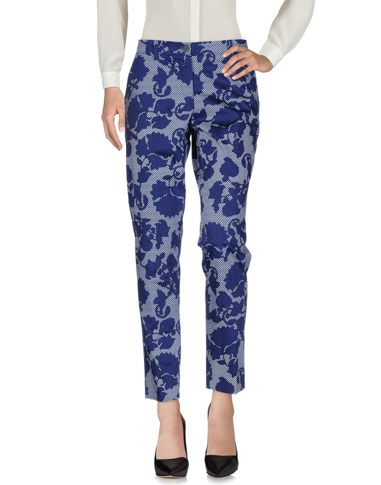 Armani Jeans Dark Blue Floral Casual Trousers