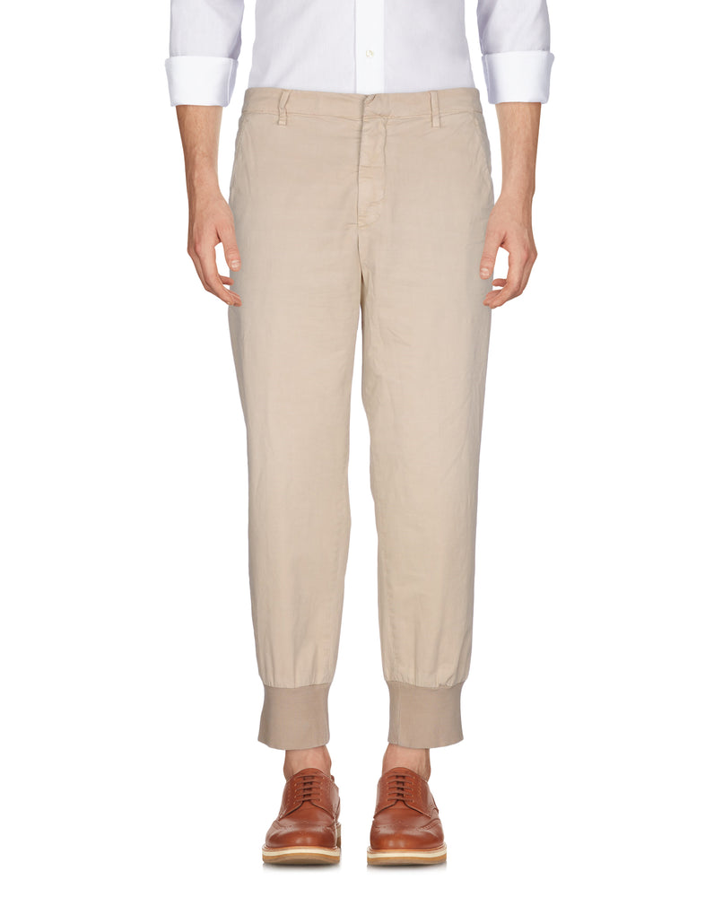 Dondup Beige Slim Fit Casual Trousers