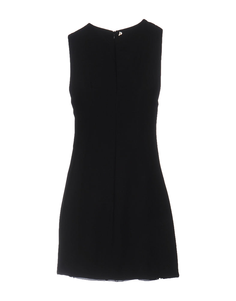 Dondup Black V-Neck Sleeveless Dress