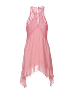 Dondup Pink Midi Sleeveless Dress