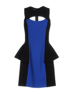 Michael Kors Blue Black Sleeveless Tube Dress