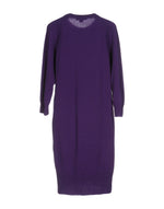 Michael Kors Purple Cashmere Long Sleeve Dress