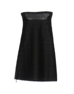 Mauro Grifoni Black Zipped Strapless Dress