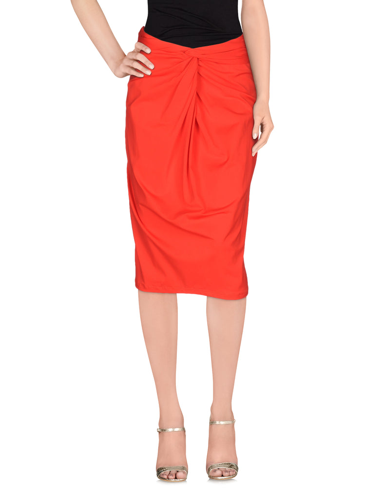 Michael Kors Red 3/4 Length Skirt