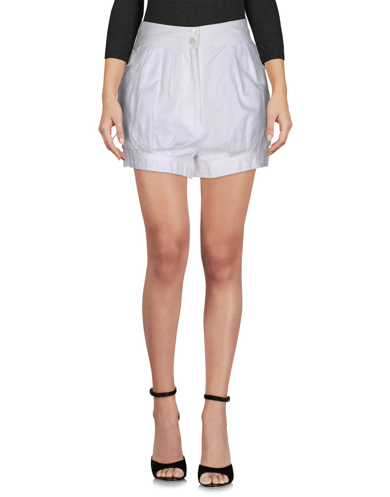 See By Chloé White Embroidered Shorts
