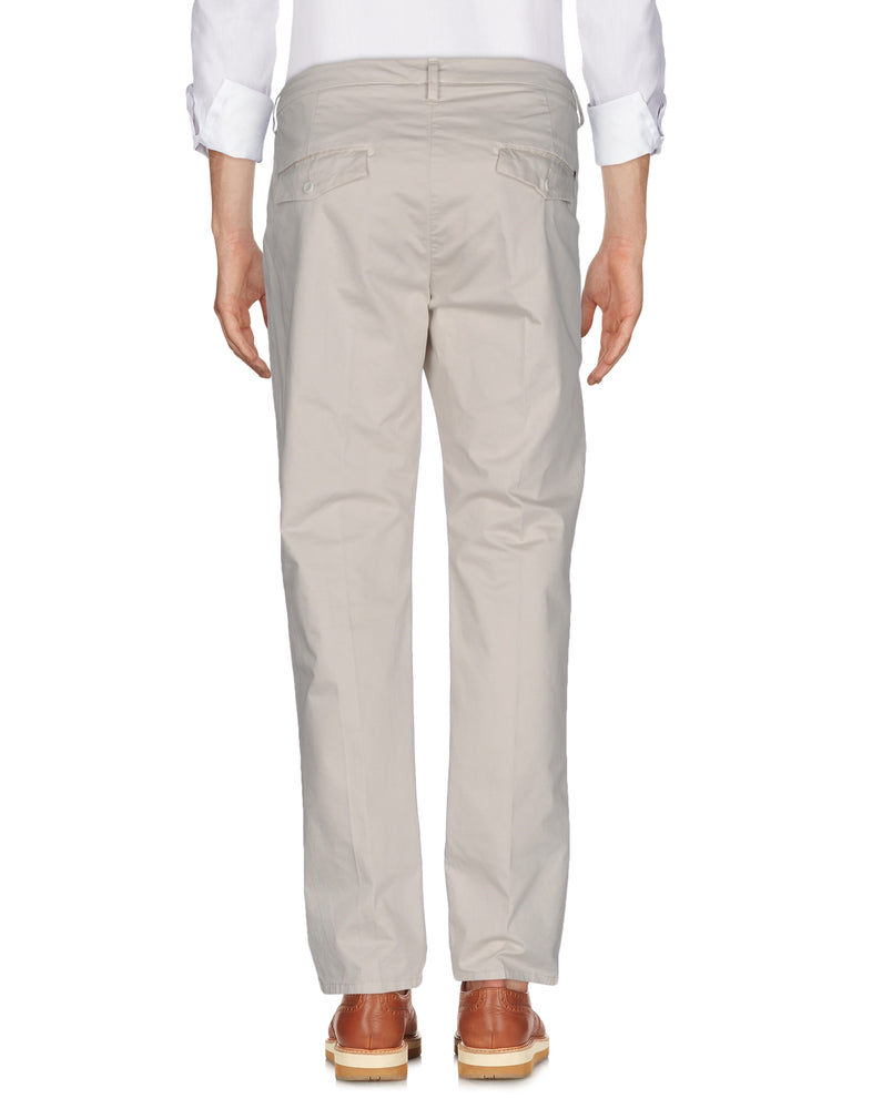 Dondup Ivory Straight Leg Slim Fit Trousers