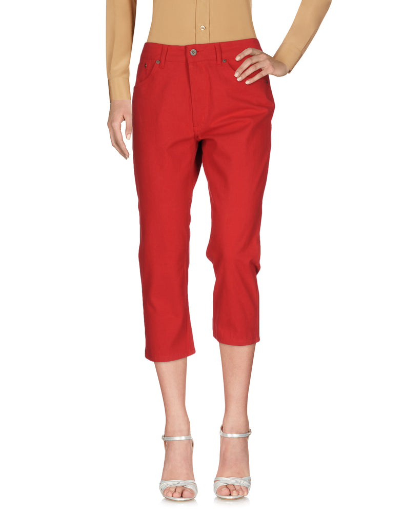 Dondup Red 3/4 Length Regular Fit Trousers