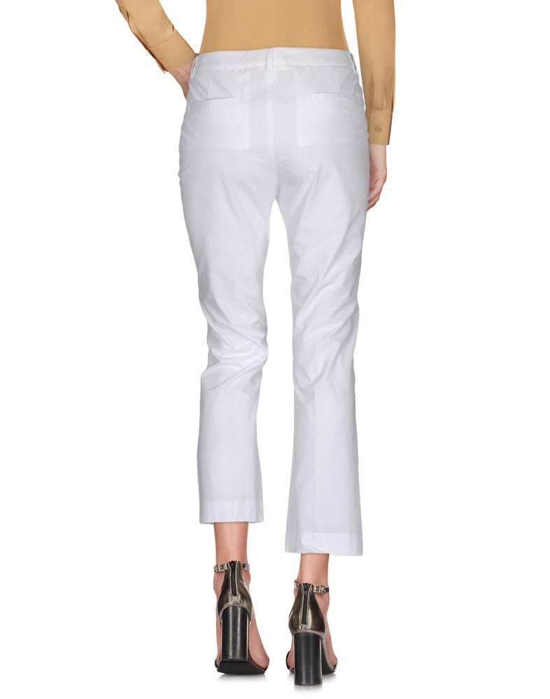 Mauro Grifoni White Low Waist Casual Trousers