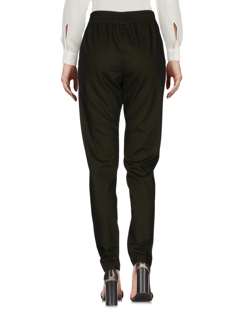 Pinko Military Green Slim Fit Casual Trousers