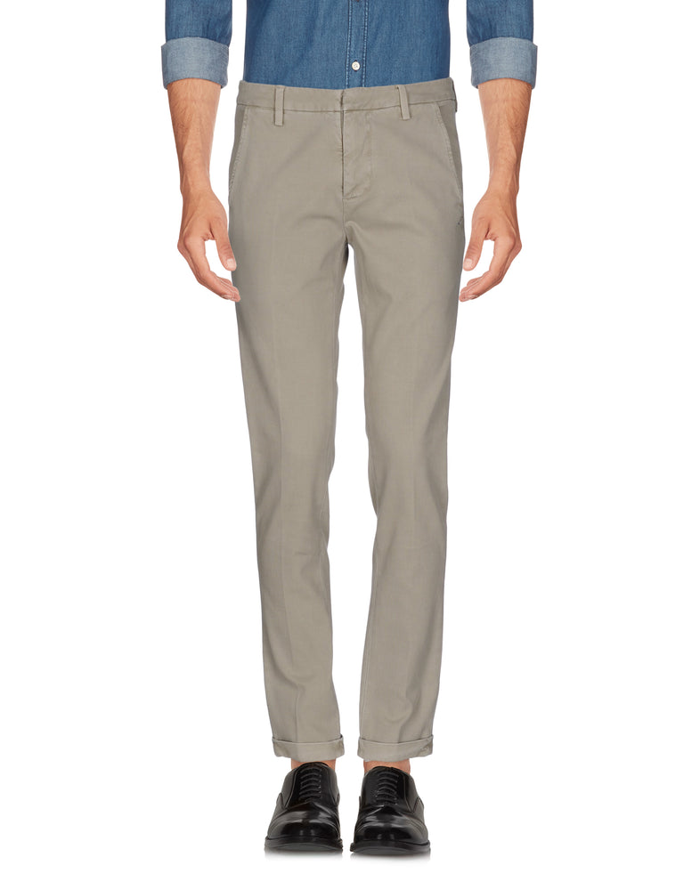 Dondup Grey Mid Rise Slim Fit Casual Trousers