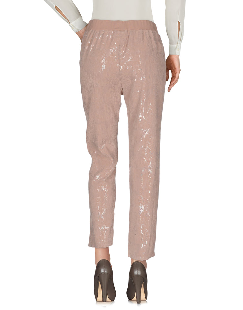 Pinko Pale Pink High Waist Sequins Trousers