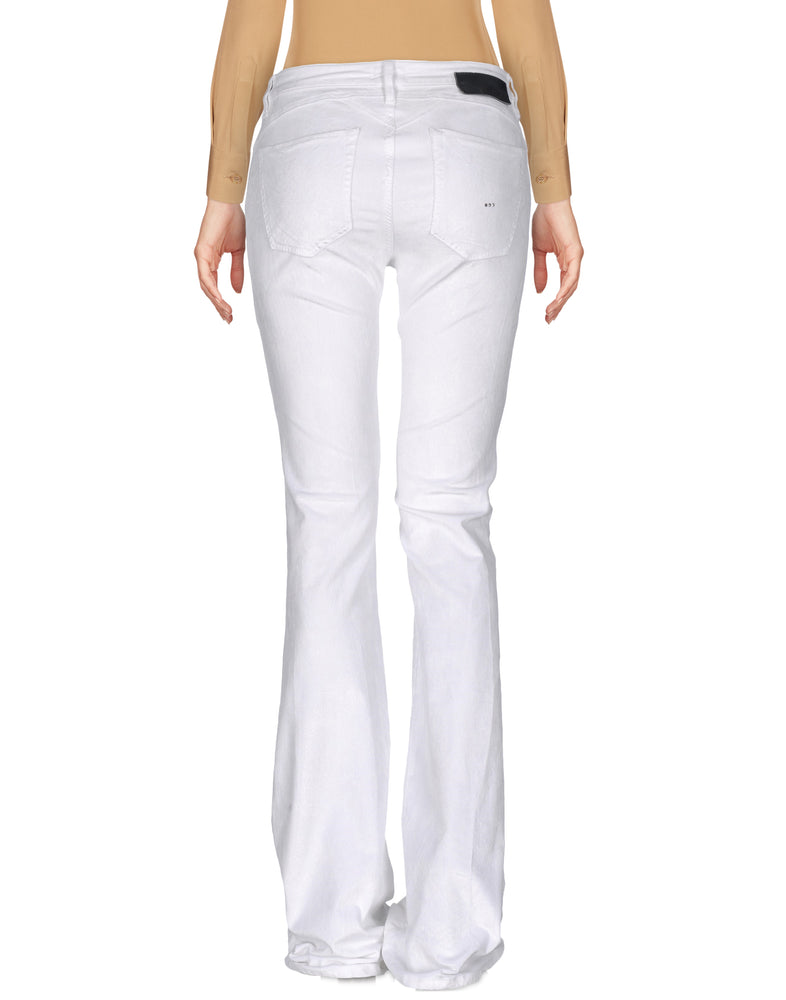 Pinko White Wide Leg Casual Trousers