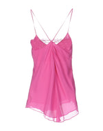 Pinko Fuchsia Thin Straps V-Neck Tank Top
