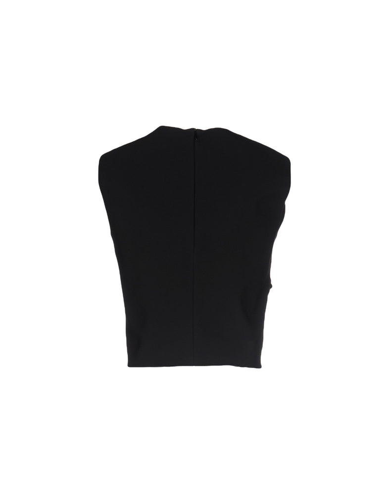 Pinko Black Beaded Flower Sleeveless Top