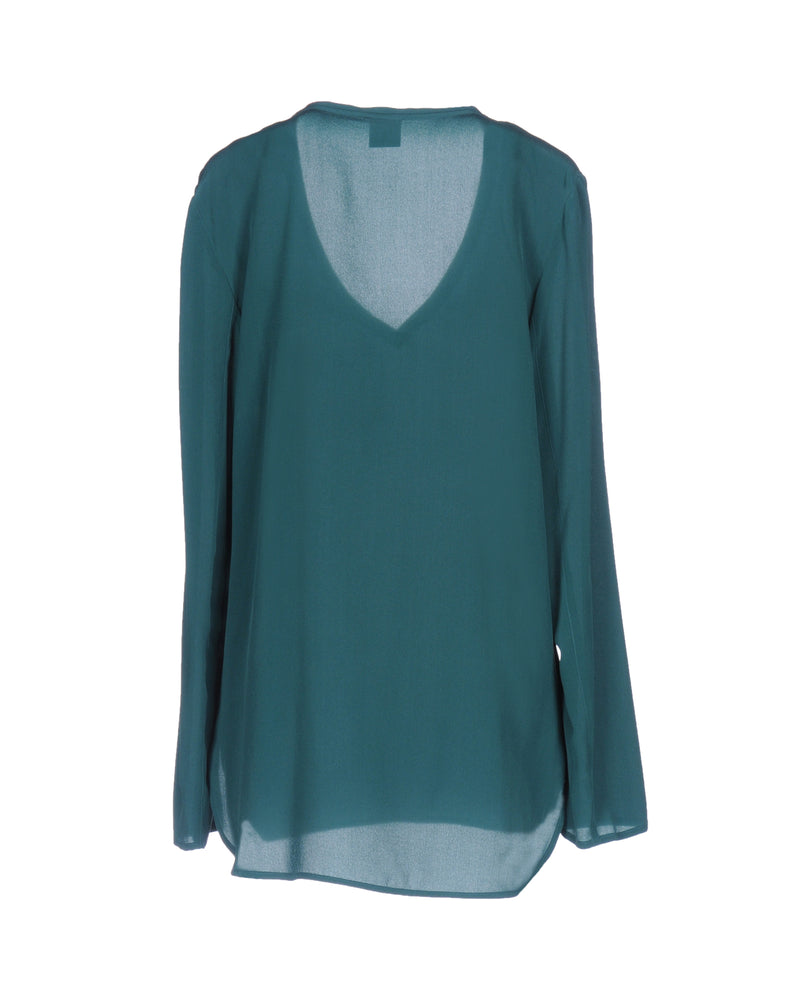 Pinko Green Long Sleeve Blouse