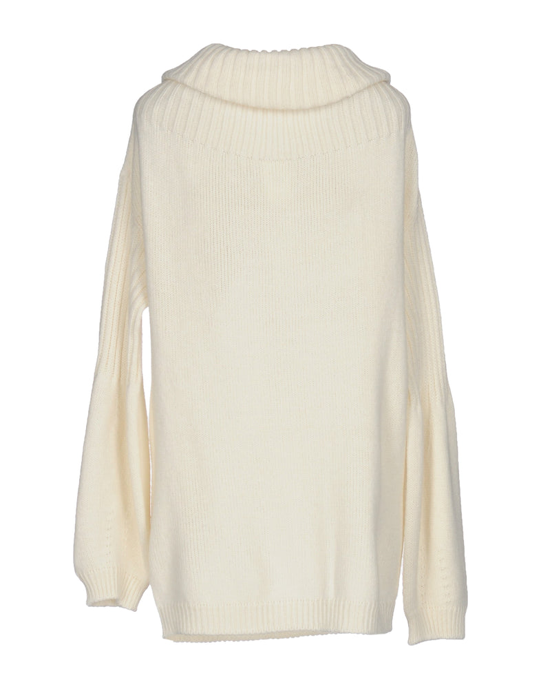 Pinko Ivory Cable Knit Turtleneck Jumper