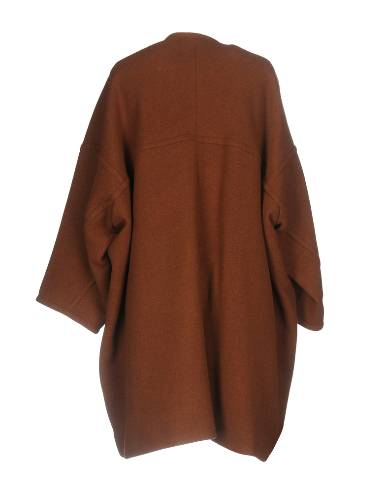 Chloé Brown Double Breasted Wool Coat