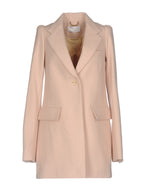 Chloé Light Pink Button Up Wool Coat