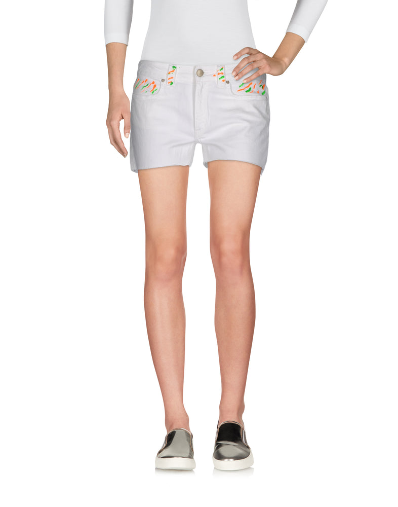 Dondup White Denim Shorts
