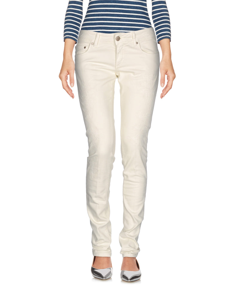 Dondup White Low Waist Slim Fit Jeans