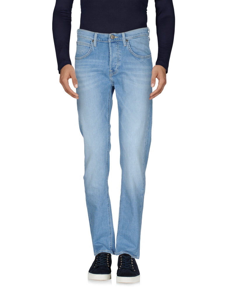 Lee Dark Wash Blue Denim Faded Effect Jeans