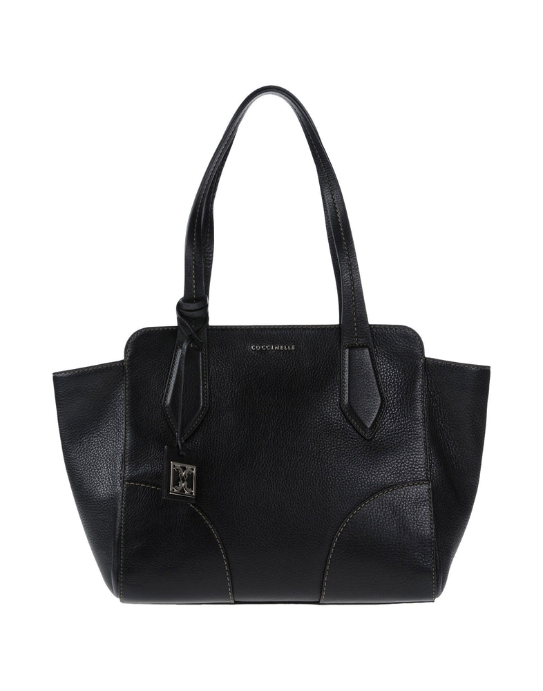 Coccinelle Black Leather Shopping Bag