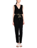 Pinko Black V-Neck Sleeveless Jumpsuit