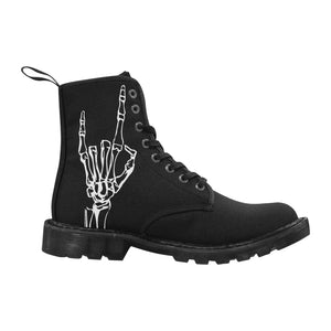 Black Devil Horns Boots - Ladies