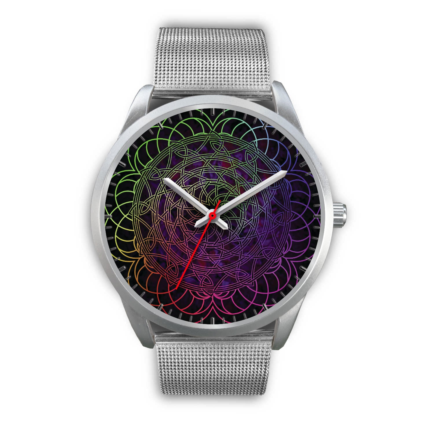Silver Spiral Design Watch