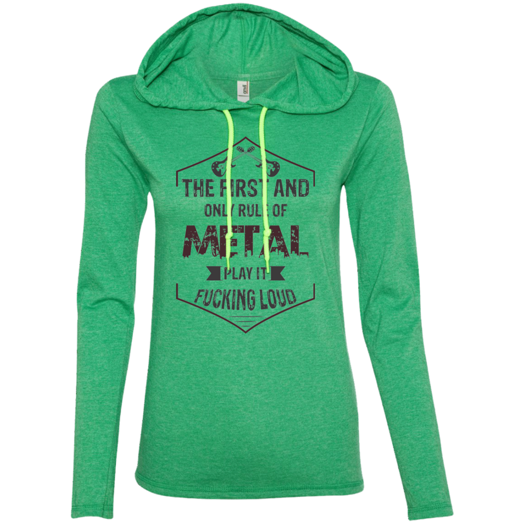 Play It Loud Ladies' Hooded Long Sleeve