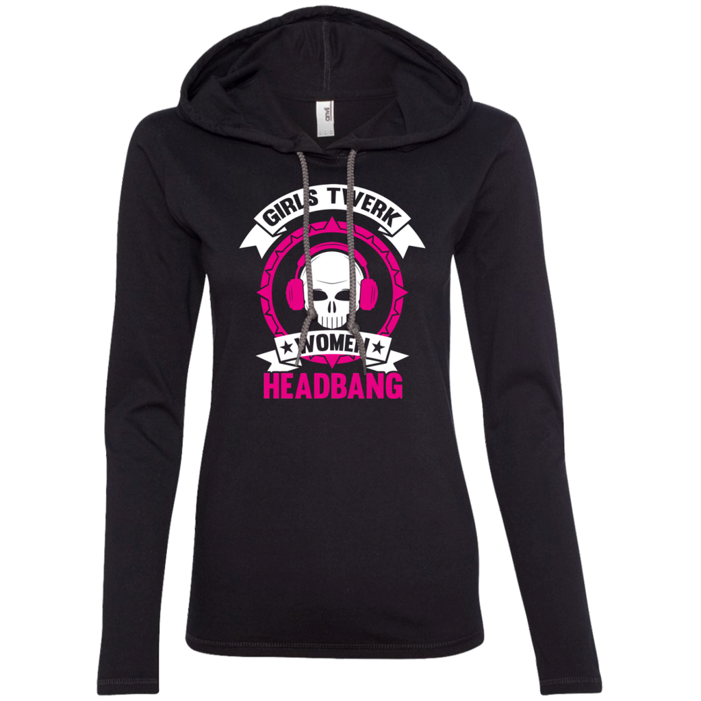 Women Headbang Ladies' Hooded Long Sleeve