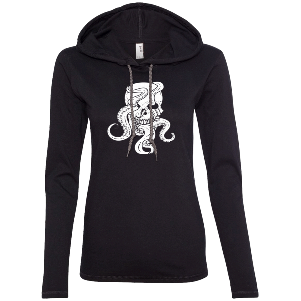 Octopus Skull Ladies' Hooded Long Sleeve