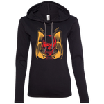 Skull Guitar Ladies' Hooded Long Sleeve