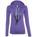 Devil Horns Ladies' Hooded Long Sleeve