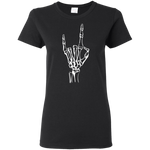 Black Devil Horns Ladies' Tee