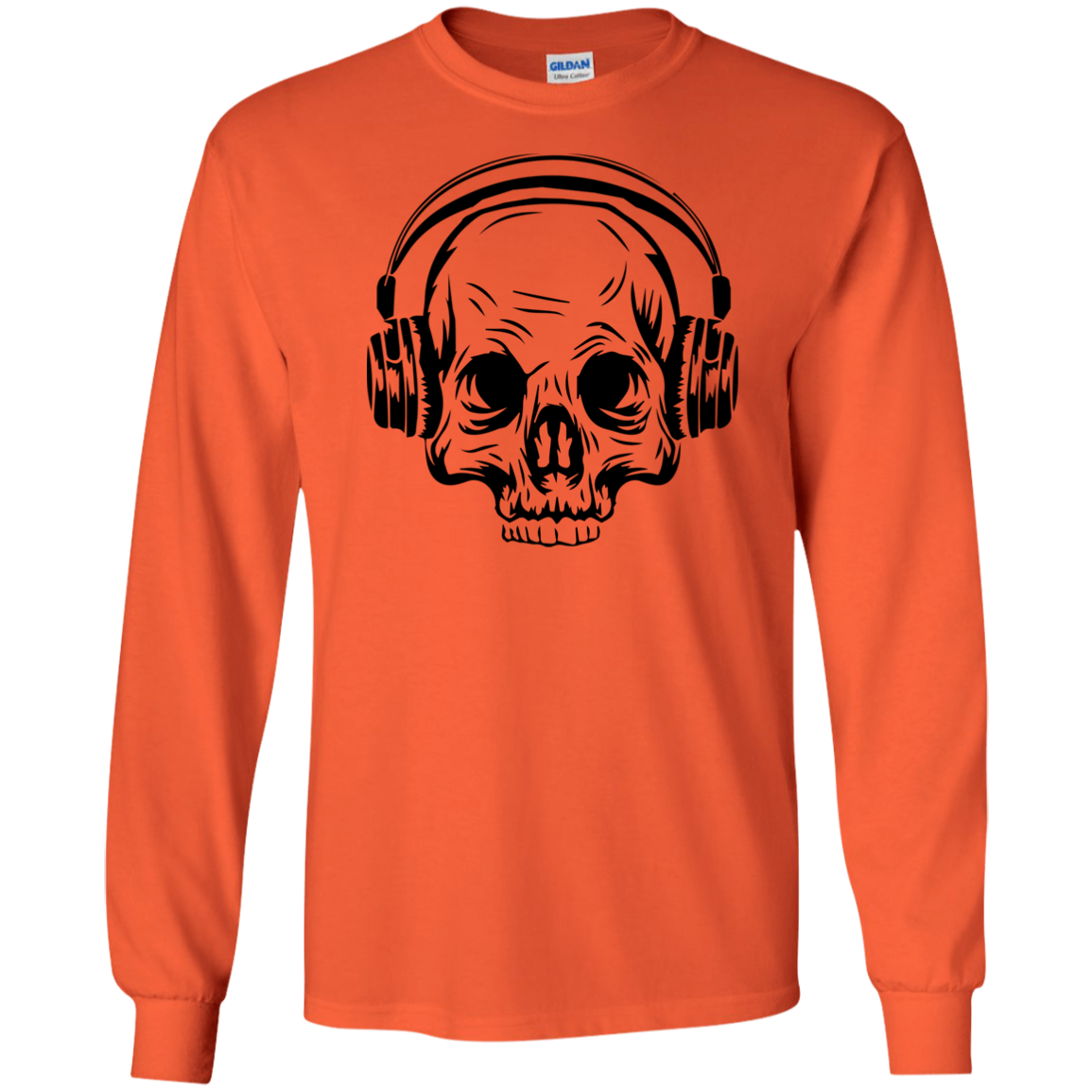 Skull & Headphones Long Sleeve