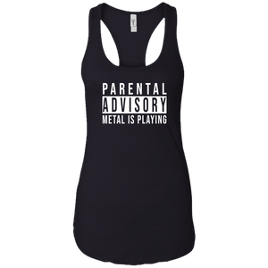 Parental Advisory Racerback Tank